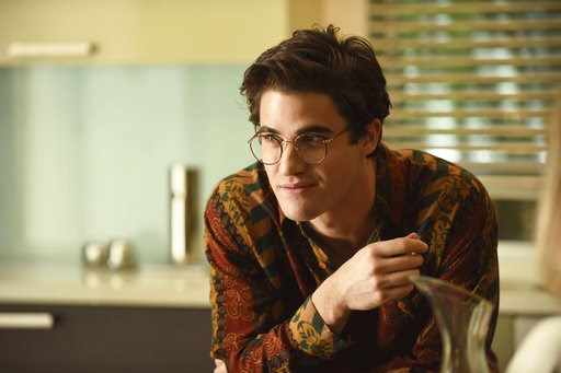 "(Ray Mickshaw/FX via AP). This image released by FX shows Darren Criss as Andrew Cunanan in a scene from ""The Assassination of Gianni Versace: American Crime Story."" Criss was nominated Thursday for an Emmy for outstanding lead actor in a limited serie..."