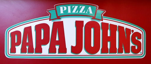 (AP Photo/Charles Krupa, File). FILE- This Dec. 21, 2017, file photo shows the logo of Papa John's is displayed at a pizza store in Quincy, Mass. Papa John's plans to pull founder John Schnatter's image from marketing materials after reports he used a ...