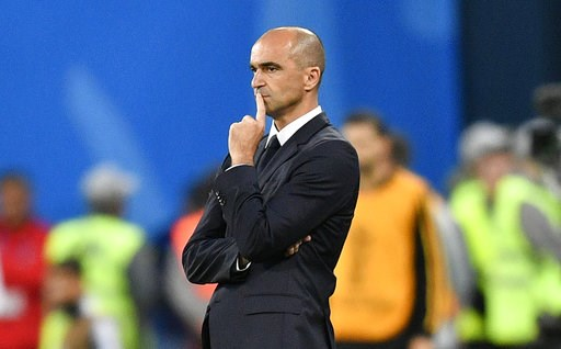 (AP Photo/Martin Meissner). Belgium coach Roberto Martinez watches the semifinal match between France and Belgium at the 2018 soccer World Cup in the St. Petersburg Stadium in St. Petersburg, Russia, Tuesday, July 10, 2018.