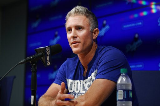 (AP Photo/Jae C. Hong). Los Angeles Dodgers infielder Chase Utley speaks during a news conference held to announce his retirement at the end of the season, Friday, July 13, 2018, in Los Angeles.
