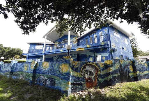 (AP Photo/John Raoux). This Wednesday, July 18, 2018 photo shows the painted exterior of the home of Lubomir Jastrzebski and Nancy Memhauseer in Mount Dora, Fla. The Orlando Sentinel reports the Mount Dora City Council unanimously agreed Tuesday, July ...
