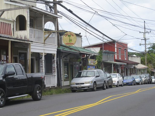 (AP Photo/Audrey McAvoy, File). FILE - This Sept. 8, 2014 file photo shows downtown Pahoa, Hawaii. The small, rural town of Pahoa is the gateway to the eruption pouring rivers of lava out of Hawaii's Kilauea volcano. Historic wooden buildings lining it...
