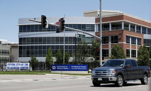 (AP Photo/David Zalubowski, File). FILE - In this June 8, 2017, file photo, the campus of the Veterans Administration hospital is under construction in Aurora, Colo. The center is set to open Saturday, July 21, 2018, years behind schedule and more than...