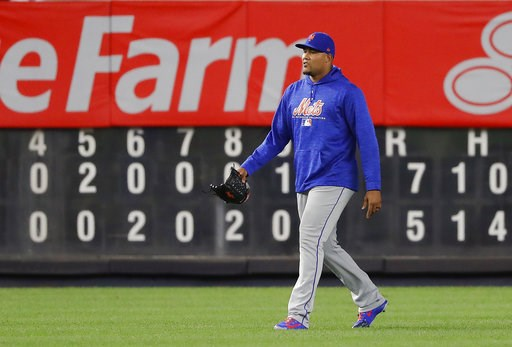 (AP Photo/Julie Jacobson). New York Mets relief pitcher Jeurys Familia walks across the field after a baseball game against the New York Yankees, Friday, July 20, 2018, in New York. Mets manager Mickey Callaway said after the game that he was called by...