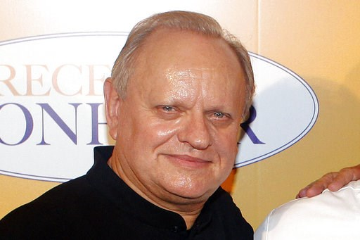 """(AP Photo/Thibault Camus, File). FILE - In this Sept.7, 2014 file photo, French chef Joel Robuchon poses for photographers during a photocall for the movie """"The Hundred-Foot Journey"""", in Paris, Sunday, Sept. 7, 2014. French master chef Joel Robuchon ha..."""
