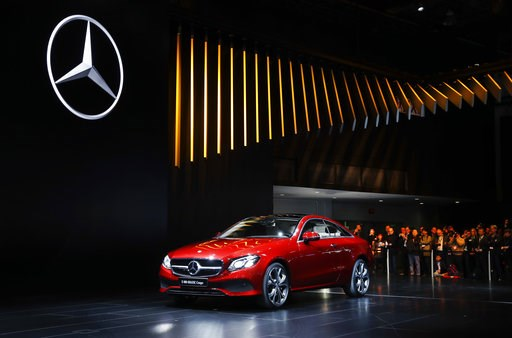 "(AP Photo/Paul Sancya, File). FILE- In this Jan. 9, 2017, file photo, the Mercedes-Benz E-Class Coupe makes its debut at the North American International Auto Show in Detroit.  The Insurance Institute for Highway Safety, in a paper titled ""Reality Chec..."