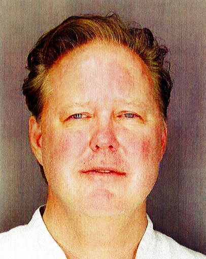 (Sag Harbor Village Police Department via AP). This undated photo provided by Sag Harbor Village Police Department on Monday Aug. 6, 2018, shows Brian France, chairman of NASCAR, taken after his arrest in New York's Hamptons for driving while intoxicat...