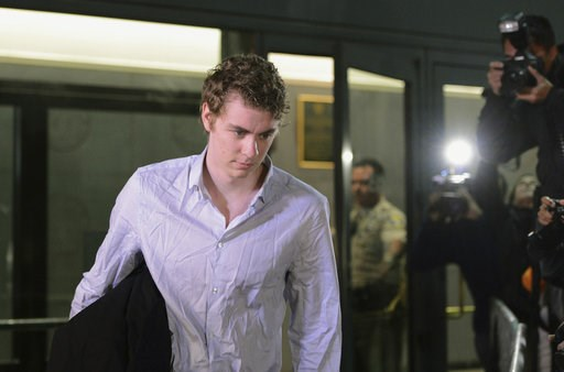 (Dan Honda/Bay Area News Group via AP, File). FILE - In this Sept. 2, 2016, file photo, Brock Turner leaves the Santa Clara County Main Jail in San Jose, Calif. An appeals court has rejected the former Stanford University swimmer's bid for a new trial ...