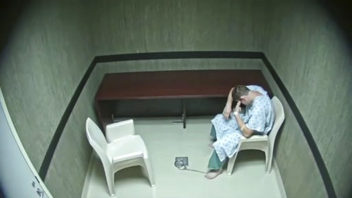 (Broward County Sheriff's Office via AP). In this image made from video provided on Wednesday, Aug. 8, 2018, by the Broward County Sheriff's Office, Nikolas Cruz points his fingers to his temple at an interrogation room, while officers are out of the r...