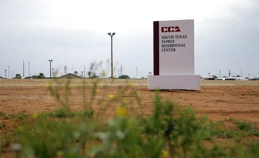 (AP Photo/Eric Gay, File). FILE - This June 30, 2015 file photo shows a sign at the entrance to the South Texas Family Residential Center in Dilley, Texas. A report that a child died shortly after being released from a U.S. Immigration and Customs Enfo...