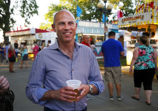 (Zach Boyden-Holme/The Des Moines Register via AP). Michael Avenatti, the lawyer representing adult film actress Stormy Daniels, drinks a beer at the Iowa State Fair in Des Moines, Iowa, Thursday, Aug. 9, 2018. Avenatti's crusade for the porn actress t...