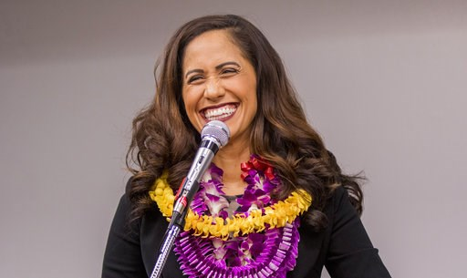(Dennis Oda/Honolulu Star-Advertiser via AP). In this April 6, 2018 photo, state Rep. Andria Tupola, who is running for Hawaii governor in the Saturday, Aug. 11, 2018 primary, speaks at a forum in Honolulu. Tupola said one of her primary focuses as gov...