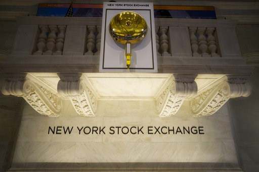 (AP Photo/Mark Lennihan, File). FILE- In this May 10, 2018, file photo the opening bell hangs above the trading floor at the New York Stock Exchange. The U.S. stock market opens at 9:30 a.m. EDT on Friday, Aug 10.