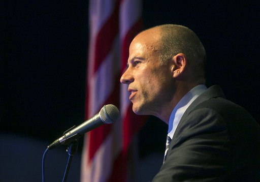 (Chris Zoeller/Globe-Gazette via AP). Michael Avenatti speaks at the Iowa Democratic Wing Ding at the Surf Ballroom in Clear Lake, Iowa, Friday, Aug. 10, 2018. Avenatti, the self-styled provocateur taking on the president on behalf of porn actress Stor...