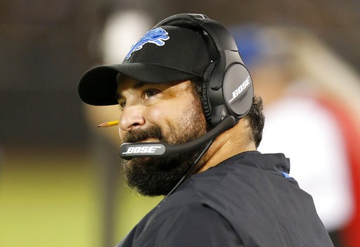 (AP Photo/D. Ross Cameron). Detroit Lions head coach Matt Patricia watches during the first half of the team's NFL preseason football game against the Oakland Raiders on Friday, Aug. 10, 2018.