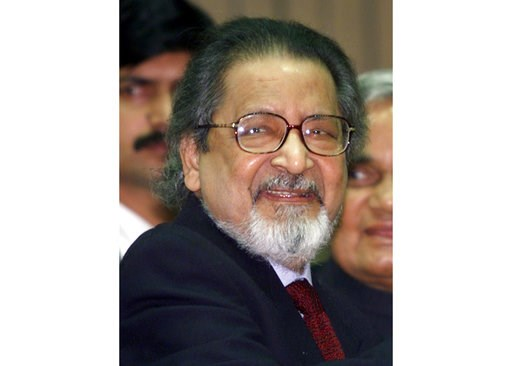 (AP Photo/John McConnico, File). FILE - In this Feb. 18, 2002 file photo Nobel laureate V.S. Naipaul attends an International Festival of Indian Literature in New Delhi, India. The family of the Trinidad-born British author says the Nobel Literature la...