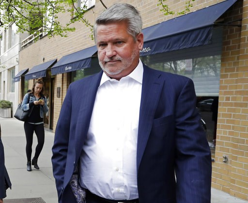 "(AP Photo/Mark Lennihan, File). FILE - In this April 24, 2017, file photo, then-Fox News co-president Bill Shine, leaves a New York restaurant. For years Shine carried out Roger Ailes' orders, earning himself the nicknamed ""the Butler"" at Fox. Now, Shi..."