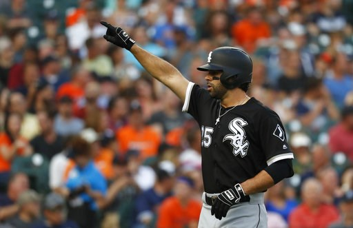 (AP Photo/Paul Sancya). Chicago White Sox's Ryan LaMarre celebrates hitting a solo home run in the second inning of a baseball game against the Detroit Tigers in Detroit, Tuesday, Aug. 14, 2018.