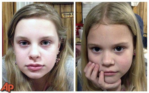Kidnapped girls didn't eat for days, This combo of file photos provided by the Mississippi Department of Public Safety shows Alexandria Bain, 12, left, and Kyliyah Bain, 8. The two children were rescued without injuries.