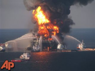 APNewsBreak: BP gets record fine in Gulf oil spill