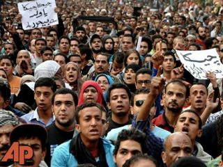 Egyptians gather at Tahrir for anti-Morsi protest