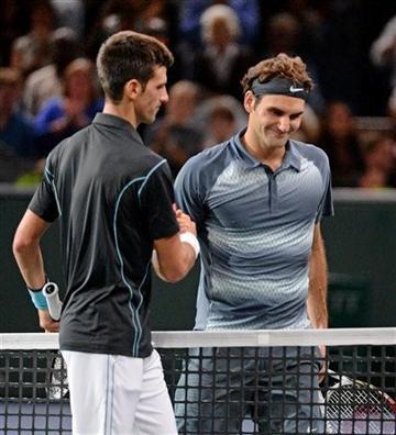 Djokovic saluda Federer - Paris-Bercy '13