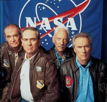 (AP Photo/ Warner Brothers, File). FILE - From Left: James Garner, Tommy Lee Jones, Donald Sutherland and Clint Eastwood pose for Warner Brothers Pictures'