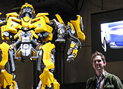 When given the chance to have you picture taken with a giant robot from outer space, you to take it.