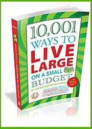 10,001 Ways to Live Large on a Small Budget is currently available nationwide. (©Skyhorse Publishing)