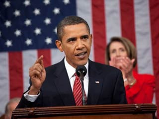 President Barack Obama speaks to a joint session of Congress on health care at th