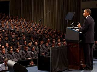 The President outlined his strategy on Afghanistan and Pakistan at the U.S. Military Academy at West Point. (©WhiteHouse/ Pete Souza)