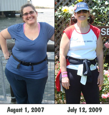 On a training walk in 2007 and at the SF Avon Walk last year!
