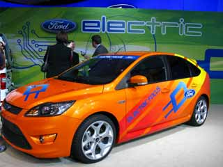 A test model of the Ford Focus Electric.