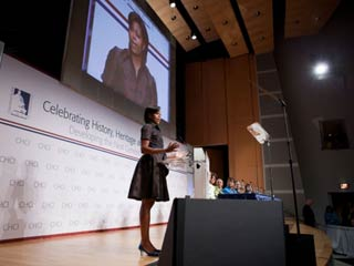 First Lady Michelle Obama delivers remarks before the Congressional Hispanic Caucus Institute Public Policy Conference, September 14, 2010. (©White House Photo/Chuck Kennedy)