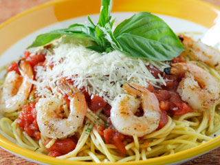 Enjoy the exotic taste of the ocean with a delicious plate of seafood pasta.  &amp;copy; istockphoto.com/Michael Valdez