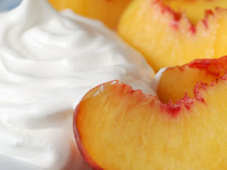 Use fresh or frozen peaches to make this delectable dessert. &amp;copy; istockphoto.com/Marie Fields