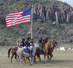Re-enactors portray Buffalo Soldiers