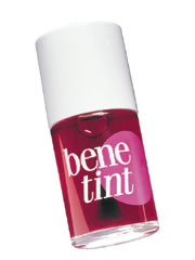 Benefit's &quot;benetint&quot; can go on your lips on its own or under gloss, or on your eyelids, just a drop of this magic liquid will wakeup your face with a punch of color in seconds! &amp;copy; benefit