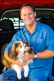 Doug Speck, the President & CEO knows the importance of car saftey for pets. (©Volvo)