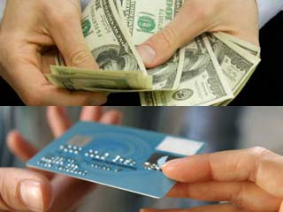 Cash may be a better way to stay within your budget, but a credit card can help you build up a credit history. (©iStockphoto.com/Alexandra Katina; Marcus Clackson)