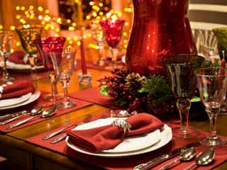 Magazines can make it seem that no holiday is complete without a table bulging with gourmet delicacies, but that's not true. (©iStockphoto.com/Lisa Thornberg)