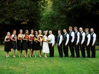 Check with other wedding attendees about the possibility of sharing the cost of a more expensive gift that's out of your budget. (&amp;copy;iStockphoto.com/Kevin Russ)