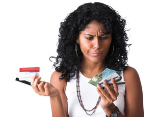 The main difference between credit and debit cards is where funds come from. (©Hemera/Thinkstock)