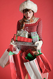 Most people spend 10-15% more than planned during the holiday season. (&amp;copy;iStockphoto.com/Michael DeLeon)