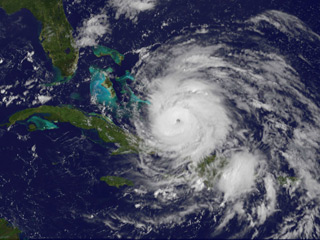 Hurricane Irene (Image courtesy of NASA/NOAA GOES Project)