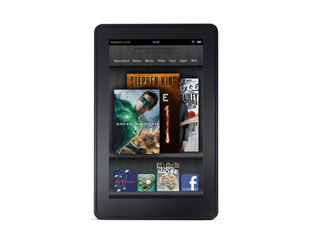 Amazon's tablet, the Kindle Fire (image courtesy of Amazon)