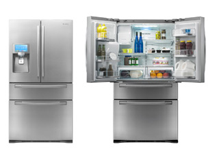 Samsung 4-door LCD refrigerator with apps (image courtesy of Digital Trends)