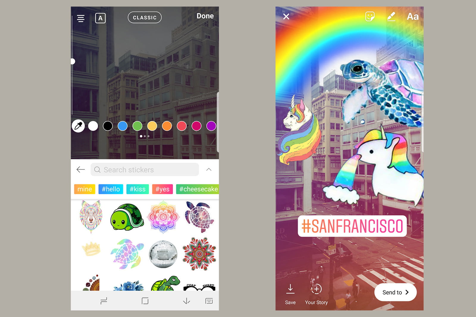 Picsarts custom stickers and the 5 million plus library of public stickers are now easier to access for android users with a new sticker keyboard