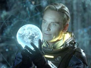As with all of the Alien films, a very human-looking android plays a big role in Prometheus. (Image courtesy of Digital Trends)