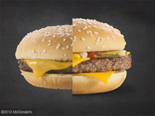 A typical burger made in the fast food joint is made, well, fast, while the model takes much longer to perfect. (Image courtesy of Digital Trends)